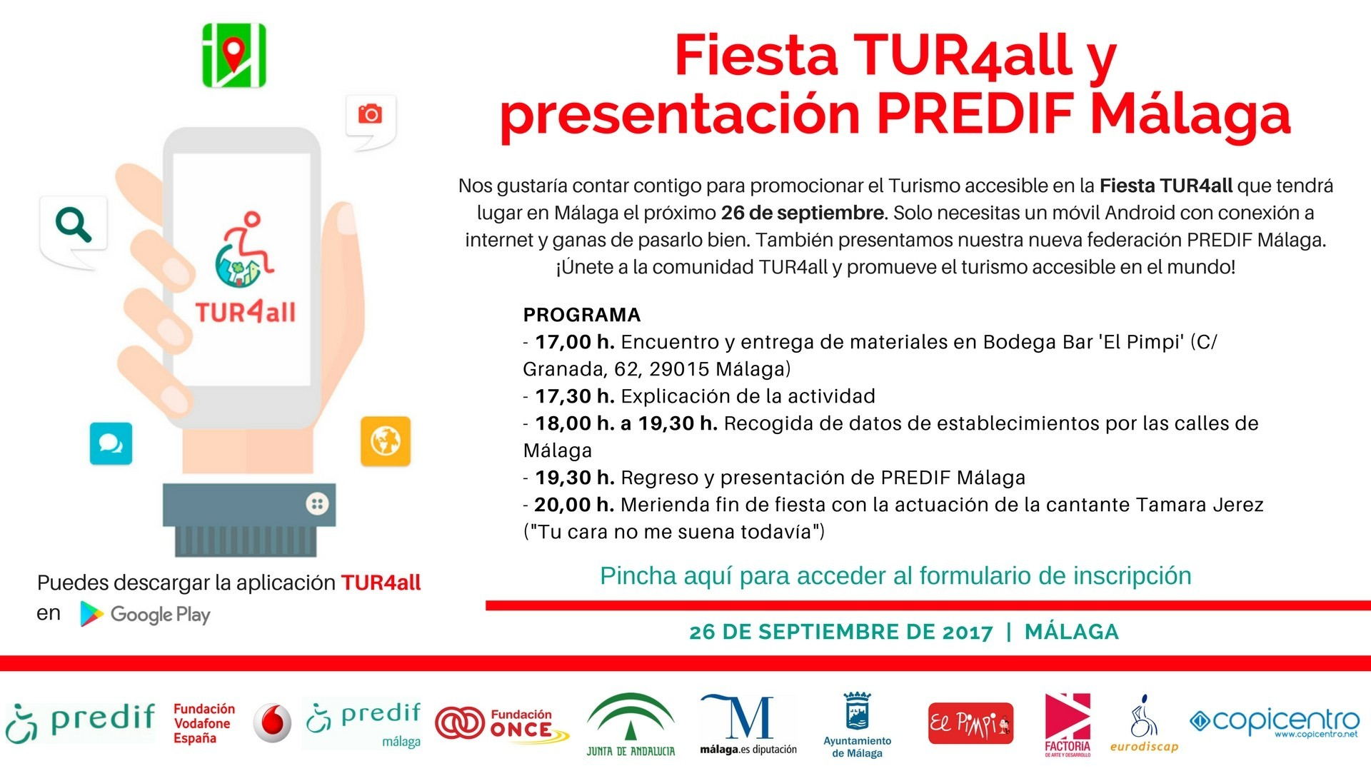 Cover photo of the event de Fiesta TUR4all en Málaga