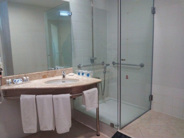 Photo/s of bathroom from adapted room