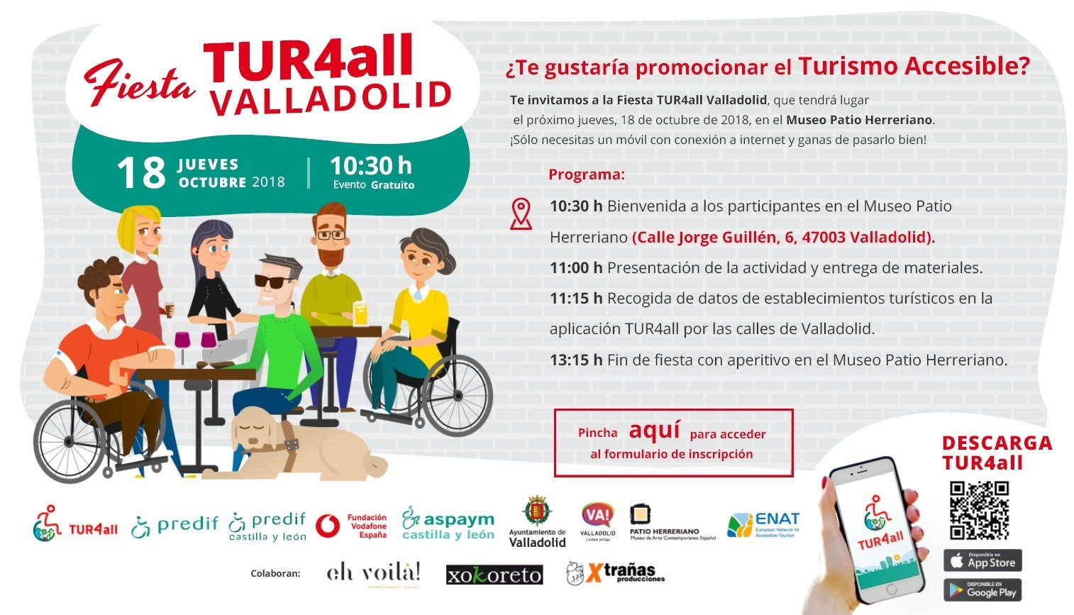 Cover photo of the event de Fiesta TUR4all Valladolid