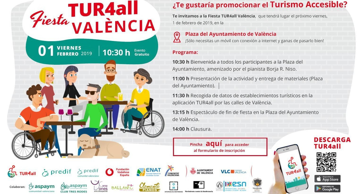 Cover photo of the event de Fiesta TUR4all Valencia