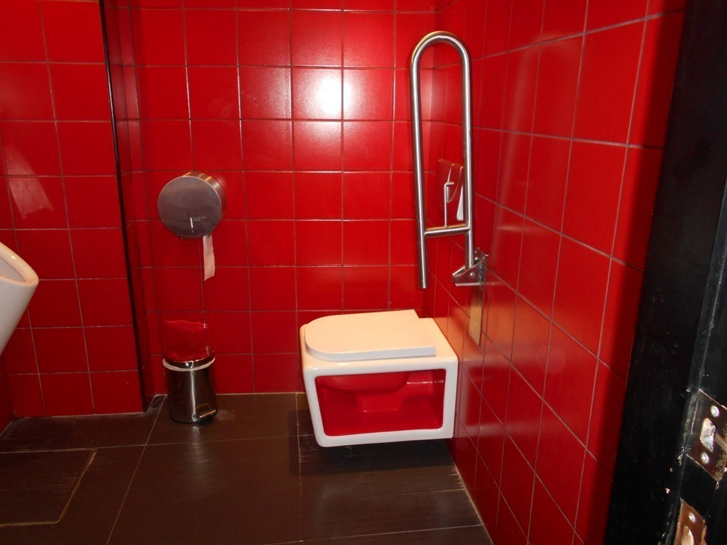 Photo/s of adapted toilet in common area - general information - stand-alone cubicle - characteristics - interior access