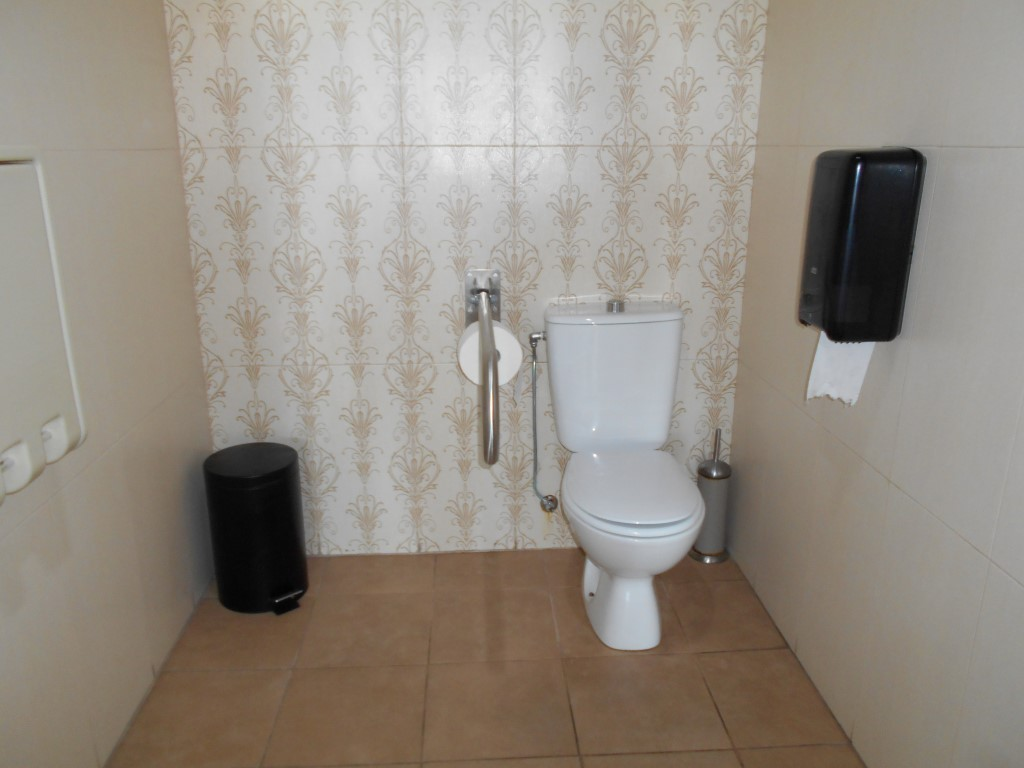 Photo/s of adapted toilet in common area - general information - multiple cubicles - characteristics - toilet in communal areas