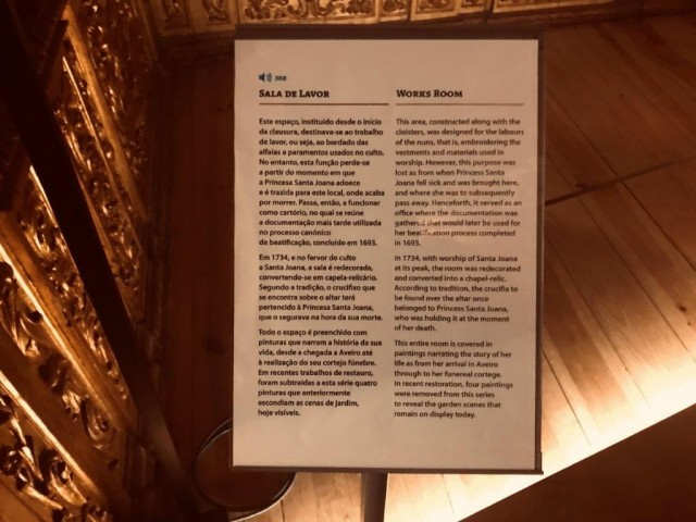 Photo/s of 3º exhibition room - written supports and information in braille