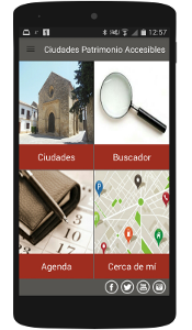 Pantallazo Accessible World Heritage Cities App