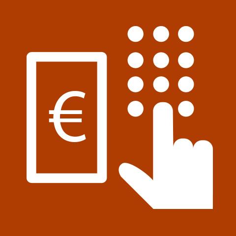 Pictogram Financial services