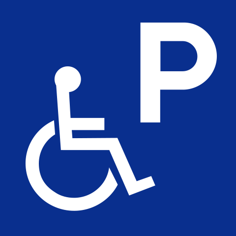 Pictogram PRM reserved parking spaces